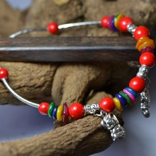 Original yunnan ethnic wind jewelry accessories wholesale Tibetan act the role of Tibetan silver restoring ancient ways female elephant stones anklets JL002