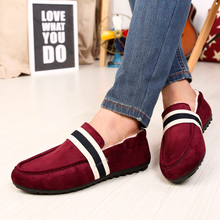 Urban warm winter shoes English plus velvet doug male version of cotton shoes tide sailing shoes comfortable driving shoes men's shoes