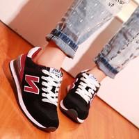 2015春夏季新款N字母女鞋子浅口休闲运动鞋韩版学生阿甘跑步单鞋