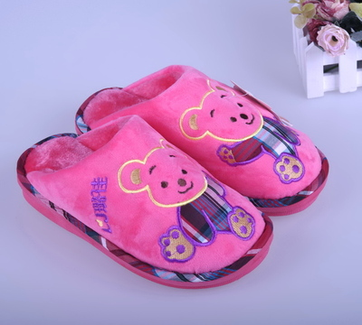 Ms. Long Xin Lu Jia genuine heavy-bottomed winter super soft velvet warm cotton slippers home slippers cute slip