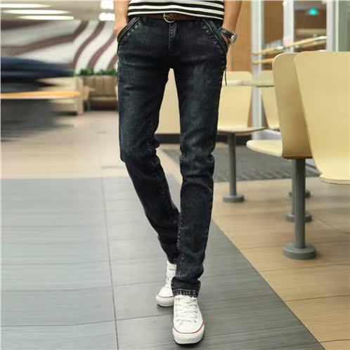 2015男士牛仔裤男款直筒修身夏季薄款长裤子
