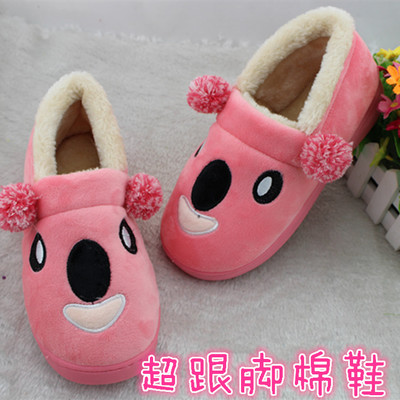 Bag with padded cotton-padded shoes couple models Teddy Bear head home interior warm winter new models slip
