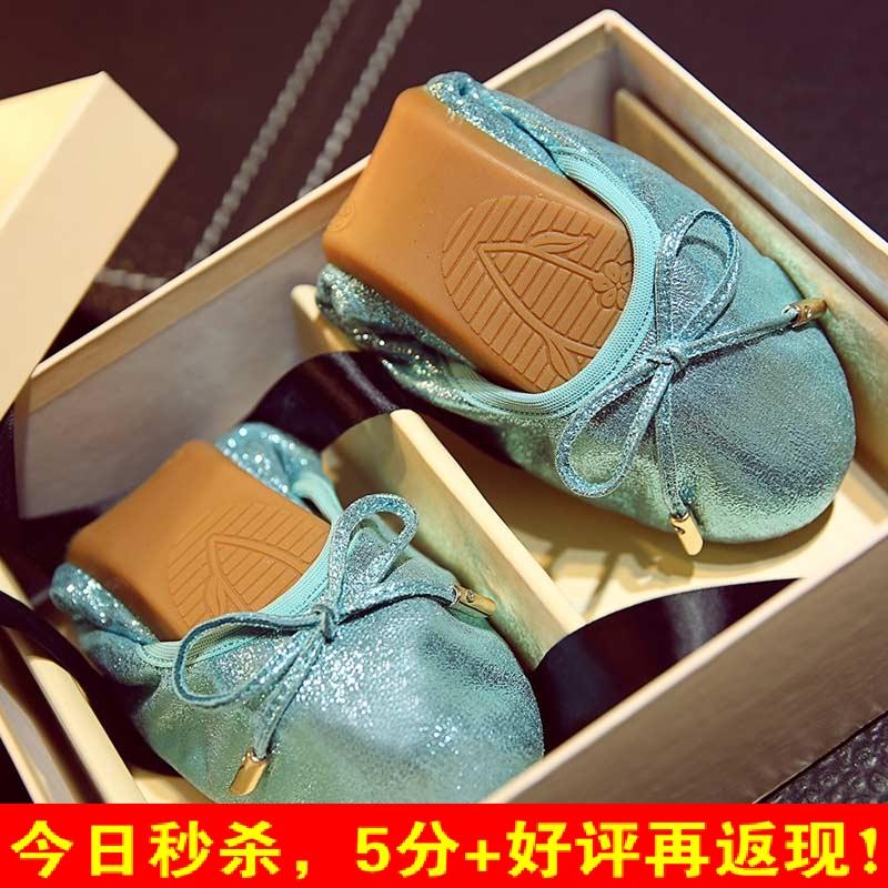 正品打折天猫品牌高端时尚软底礼盒舞鞋蝴蝶结