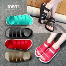 韩国拖特TOEOT舒适拖鞋百变夏季男女凉鞋休闲情侣沙滩鞋出游必备