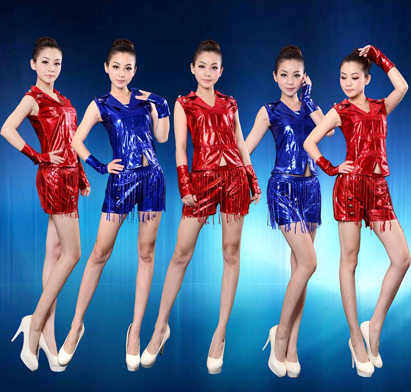2015广场舞小苹果演出服DS现代舞爵士舞嘻哈亮片舞蹈演出套装包邮