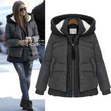 Clearance OJA ladies' authentic fashionable Europe and the United States big yards of new fund of 2014 autumn winters hooded down jacket warm coat