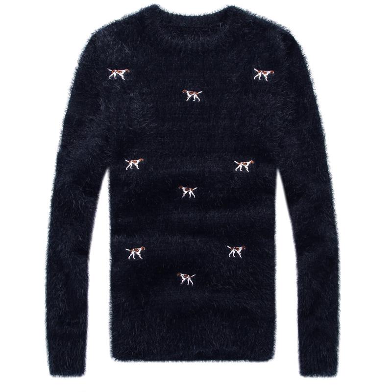2014新款秋装加厚男士毛衣针织衫男线衫608-T938圆领休闲人造纤维