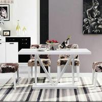 餐桌实用现代经济创意大小户型环保免漆板式艺术简约时尚美观WK29
