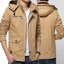 Add hair thickening man winter jacket pepp han edition cultivate one's morality even cap army wind outdoor tooling coat male big yards