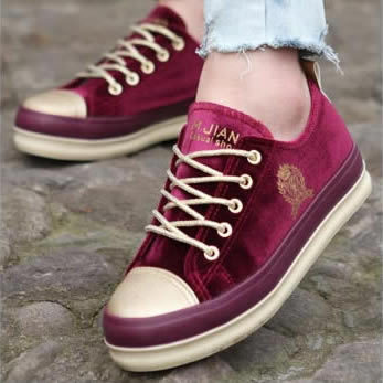 Autumn 2014 new Korean star tide bottomed platform shoes to help low permeability canvas shoes tendon at the end casual female
