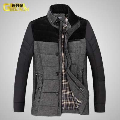 Men's winter jacket men down jacket cotton coat collar down jacket coat men's clothes in the elderly