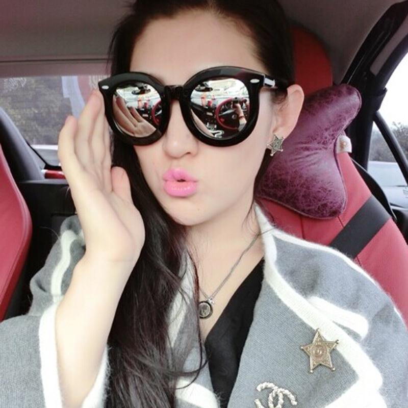 Karen Walker Mirrored Sunglasses  2016 the new polarized sunglasses female star models round face