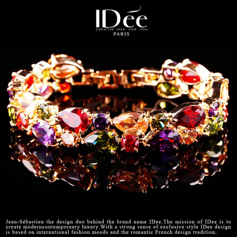 法国IDee紫水晶手链女奢华红宝石手链奢华饰品欧美大牌创意礼物