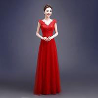 晚礼服长款2016新款春夏季时尚双肩修身宴会晚装年会主持人礼服女