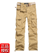 Paragraph small dad articles with pure cotton trousers overalls pocket more male men army tooling slacks autumn
