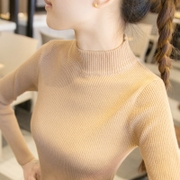 半高领毛衣打底衫女长袖内搭秋冬2018短款百搭紧身针织衫
