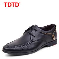 TDTD 2015春秋新款皮鞋子男士休闲鞋真皮透气鞋