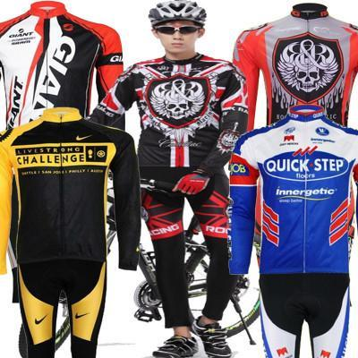 Packages mailed 2015 team edition mountain bike riding long suit men and women bicycle during the spring and autumn winter thin pajamas