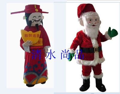Special cartoon dolls cartoon costumes Fortuna Santa suit costumes walking cartoon dolls