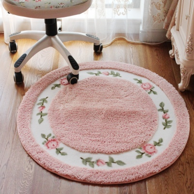European pastoral living room carpet carpet American country bedroom bedside carpet entrance mats round computer cushion