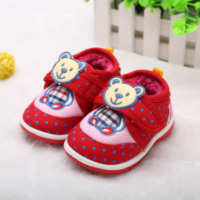 Baby shoes, toddler shoes within 0-1-2-3 years old boys and girls in autumn and winter padded shoes soft bottom infant shoes 2014