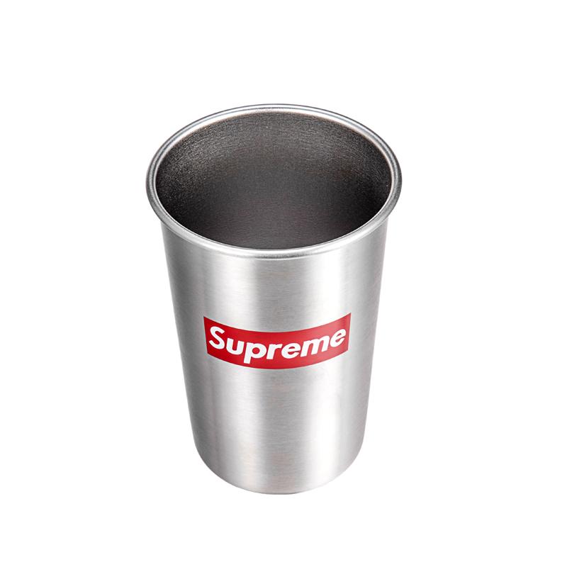 SILVERFOOT户外野营杯子便携创意不锈钢水杯大容量加厚防漏敞口杯图片