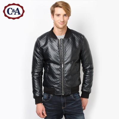 C & A2014 texture embossed PU Men's new winter sports jacket | CA200144761