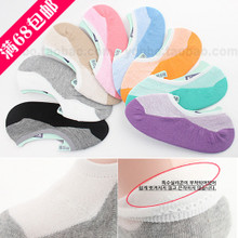 68 packages mail South Korea imported ksox quality goods Summer thin female foot cover with cotton silicone non-skid stealth ship socks
