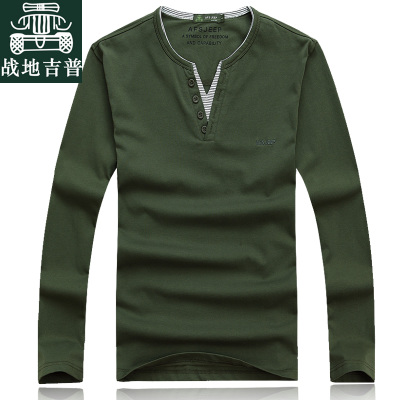 2014 new winter long-sleeved T-shirt men AFS JEEP Battlefield Jeep V-neck T-shirt loose large size T-shirt