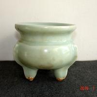 老古董瓷器古玩瓷器宋代汝窑瓷器香炉古董收藏