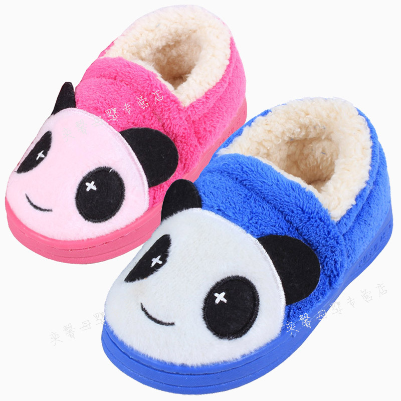 Children's shoes stuffed bag with cute children's slippers shoes slippers children boys and girls winter shoes slip