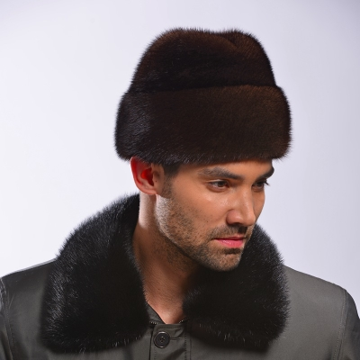 Men mink fur hat import whole mink mink hat to keep warm in the elderly gentleman hat new