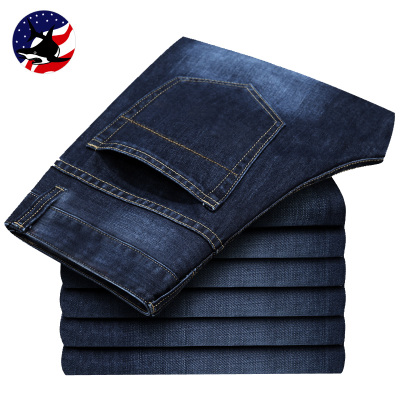 Broken code clearance excellent shark Winter Mens jeans men straight pants plus thick velvet warm pants poly