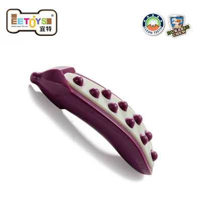 EETOYS IST Jianchi pet toys molar tooth cleaning dog bite resistant vegetables Toys / eggplant