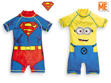 The spot! The NEXT baby clothes bought boy superman yellow sunscreen 15 new one-piece surfing