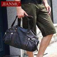 韩版帆布包潮包单肩包手提包斜跨休闲包旅行斜挎包男包包大男士袋