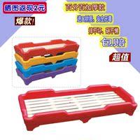 幼儿园床儿童睡床叠叠床幼儿园塑料床批发小床专业用木板床午睡床