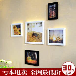 5框实木环保相片墙  简约创意家居多框组合照片墙 厂家直销