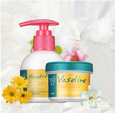 Vaseline hand, foot care cream flower crafts suit moisturizing chapped hand, foot cream anti-anti-itch cream frostbite