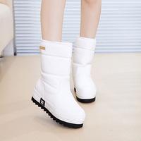 2015新款韩版女式雪地靴中筒平底防水防滑圆头厚底松糕套筒棉鞋潮