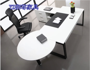 Shanghai fashion boss Desk Office furniture in stock white Executive desk supervisor table simple and modern