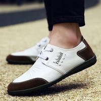 夏e步男鞋秋季潮鞋软底套脚男士休闲鞋子男士韩版皮鞋驾车懒人鞋