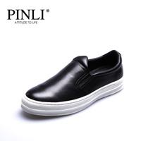纯色板鞋2015秋冬新款时尚男鞋个性牛皮白色黑色休闲鞋男