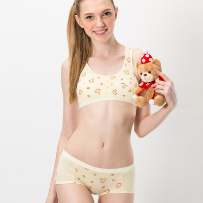 Puberty young girl underwear made of pure cotton high students ...