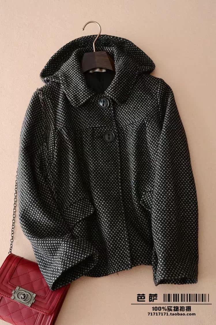 женское пальто Экспорт в Японии имеет действительно оригинальные Кукла Пальто две кнопки шерсти NH досуг потери приносящего просвет