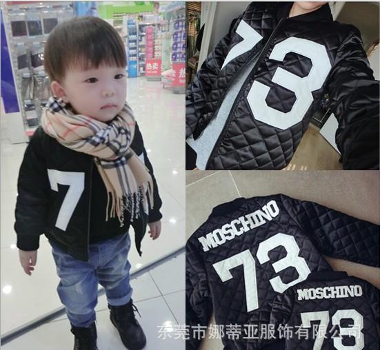 Кальвин e Корея покупки 73 детей Fun Pack стеганый жакет вышивка дополняется бейсбол равномерное куртка зимняя