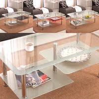 钢化玻璃茶几桌 简约现代小户型茶台 长方形简易茶桌个性圆角茶台