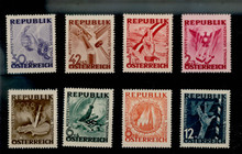Austria, 1946 - world war ii the anti-fascist propaganda, 8 new flag maps and other charity (MNH)