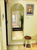 美式乡村复古穿衣镜试衣镜子全身镜壁挂落地镜装饰镜做旧玄关镜