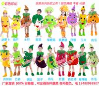儿童蔬菜演出服青菜青椒土豆红薯竹笋西红柿玉米萝卜蘑菇茄子青瓜